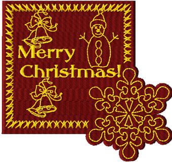 Free Christmas machine embroidery design - News - Free machine ...