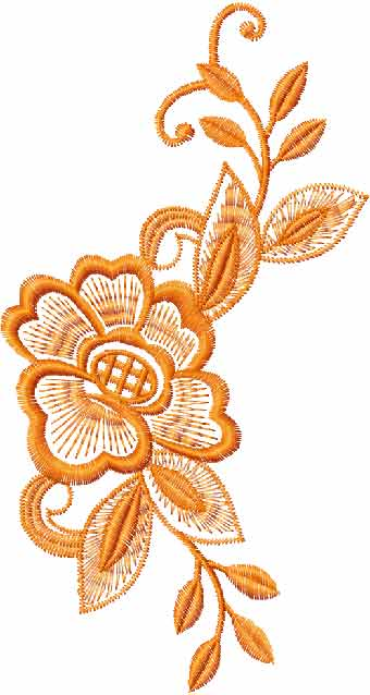 With Leaves Free Machine Embroidery Design