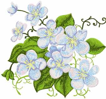 Forget Me Not Free Machine Embroidery Design