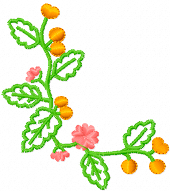 Free oak machine embroidery design