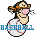 Free embroidery design Tigger Baseball Logo