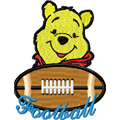 Winnie pooh football logo  free machine embroidery design