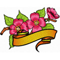 Aplle Blossom flower with banner