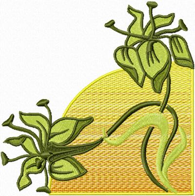 Flower corner Free machine embroidery design blnket quilt