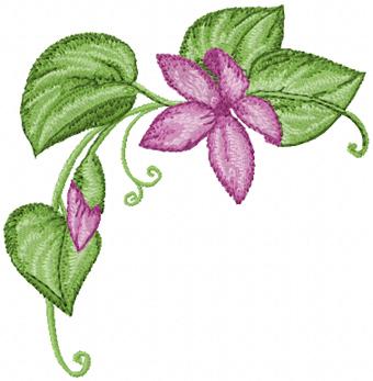 Corner flower free machine embroidery design altavistaventures Image collections