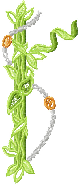 Leaves free machine embroidery design