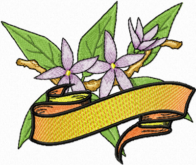 free orange blossom machine embroidery design