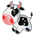 Small funny cow machine embroidery design