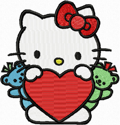 Hello kitty heart for Bureau hello kitty