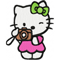 Hello Kitty Photographer embroidery design