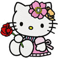 Hello Kitty with rose