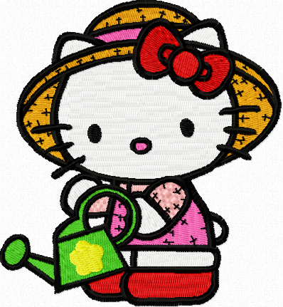 hello kitty gardener machine embroidery design. Black Bedroom Furniture Sets. Home Design Ideas