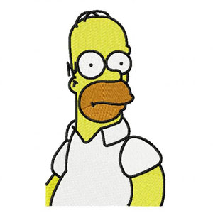 Homer Simpson machine embroidery design
