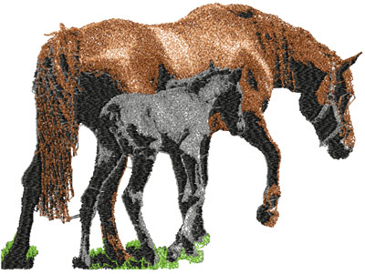Free Horse Photo Stitch Machine Embroidery Design