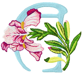Iris letter a free machine embroidery design iris letter machine embroidery spiritdancerdesigns Image collections