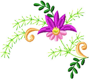 Flower Small Element Machine Embroidery Design