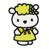 Hello Kitty Lamb machine embroidery design