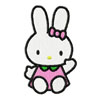 Hello Kitty bunny embroidery design