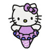 Hello Kitty ballerina machine embroidery design