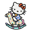 Hello Kitty riding horse machine embroidery design