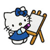 Hello Kitty Artist machine embroidery design