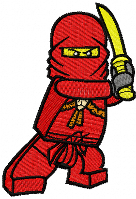 Kai machine embroidery design from LEGO Ninjago collection