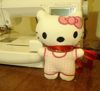Hello Kitty soft toy with embroidery free download