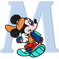 Mickey Mouse machine embroidery design