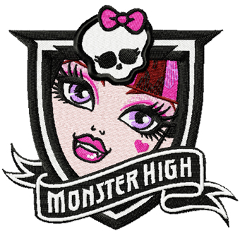 Monster High Draculaura machine embroidery design