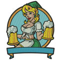 Octoberfest Girl embroidery design