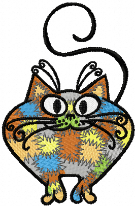 I'm Patches Cat machine embroidery design