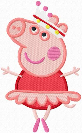 Peppa pig applique design