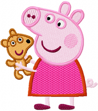 peppa pig machine embroidery designs