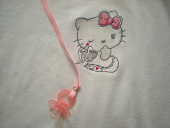 baby clothes with hello kitty embroidery