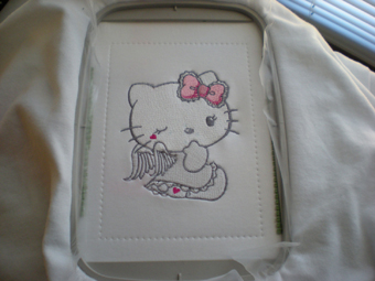 hello kitty angel machine embroidery in hoop