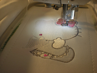 step by step hello kitty design