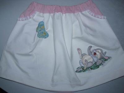 Bambi skirt, machine embroidery - News - Free machine