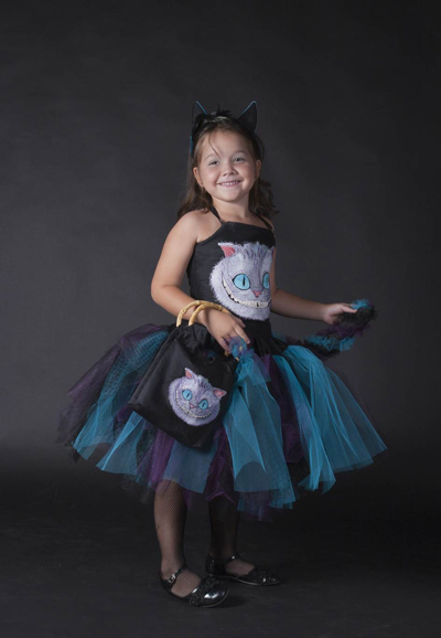 fashion dress with cheshire cat design