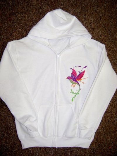 jacket with embroidery design