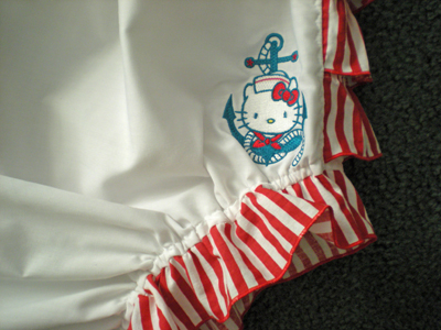 baby outfit embroidered hello kitty