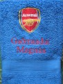 Towel with Arsenal football club embroidery