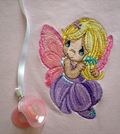 little fairy embroidery design outfit