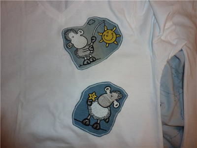 sheepworld embroidery clothes
