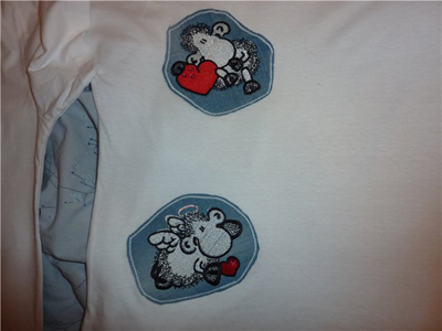 shirts with sheepworld embroidery