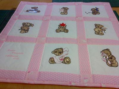 Teddy Bear quilt - News - Free machine embroidery designs ...