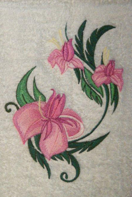 elegant flower embroidery from flowers collection