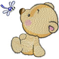 Cute Teddy Bear spring 2 embroidery design