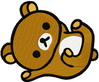 Rilakkuma machine embroidery design