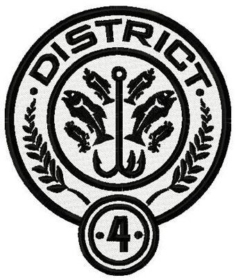 District 4 Hunger games logo machine embroidery design
