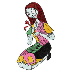 Sally from The Nightmare Before Christmas machine embroidery series